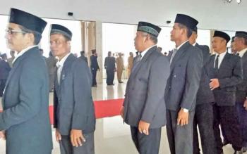 Sejumlah pejabat di lingkup Pemkab Sukamara.