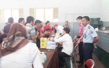 Tes HIV/AIDS merupakan salah satu pelayanan kesehatan bagi warga binaan Lapas Klas IIB Pangkalan Bun.