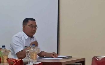 Kepala Dinsos Kotim, Heriyanto saat rapat penutupan lokalisasi, Rabu (5/4/2017)