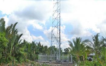 Salah satu tower telekomunikasi di Kuala Pembuang.