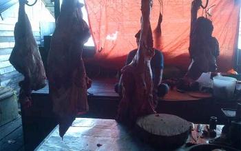 Harga daging sapi dijual RP 140 ribu