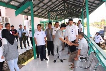 Gubernur Kalteng, Sugianto Sabran saat kunjungan kerja ke RSUD Puruk Cahu