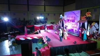 Final pemilihan Putra Putri Pariwisata Kabupaten Kabupaten Murung Raya yang dilaksanakan di Gedung Futsal Tana Malai Tolung Lingu, Kota Puruk Cahu Minggu (9/4/2017) malam.