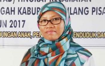 Sekretaris Dinas Pemberdayaan Perempuan Perlindungan Anak Pengendalian Penduduk dan Keluarga Berencana Kabupaten Pulang Pisau Sopiyah.