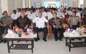 Kegiatan advokasi jejaring Sanitasi Total Berbasis Masyarajat (STBM) Kabupaten Sukamara tahun 2017 di aula setda Sukamara.