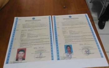 Identitas sejumlah TKA yang bekerja di Kabupaten Gunung Mas