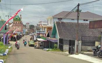 Bangunan penangkaran sarang burung walet di Kota Muara Teweh, Kabupaten Barito Utara.