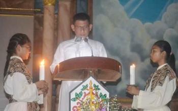 Pelaksanaan Tri Hari suci di Gereja Katolik Santa Maria De La Salete, Muara Teweh
