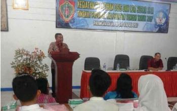 Dinas Pendidikan Provinsi Kalimantan Tengah menggelar pelatihan OSIS dan latihan dasar kepemimpinan yang diikuti 70 siswa perwakilan kabupaten/kota.