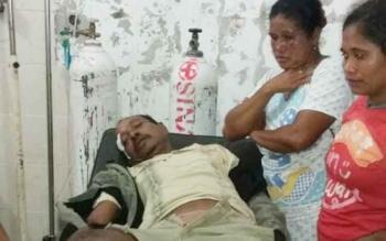 Korban laka lantas saat dirawat di RSUD dr Murjani Sampit.