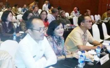 Wakil Bupati didampingi Kepala Bappeda Litbang dan Kepala Dinas Kesehatan Kabupaten Pulang Pisau saat menghadiri Musrenbang Regional Kalimantan, di Jakarta.