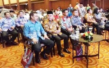 Gubernur Kalteng Sugianto Sabran saat menghadiri Musrenbang Regional 2017 di Hotel Borobudur Jakarta, Selasa (18/4/2017)