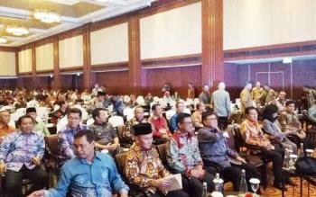 Gubernur Kalteng Sugianto Sabran saat menghadiri Musrenbangnas Regional di Hotel Borobudur Jakarta, Selasa (18/4/2017)