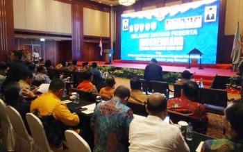 Gubernur Kalteng, Sugianto Saran saat menghadiri Musrenbangnas Regional Kalimantan