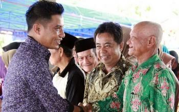 Bupati Kotim Supian Hadi bersilaturahim dengan ratusan lansia di Kecamatan Parenggean.