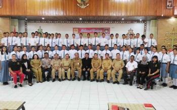 Pembukaan seleksi calon anggota Paskibra Kabupaten Gunung Mas, belum lama ini
