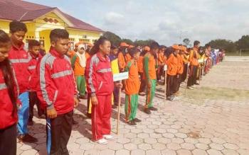 Peserta OOSN dan FLSSN tingkat Kabupaten Sukamara saat mengikuti pembukaan di Balai Pelatihan Guru (BPG) Sukamara.