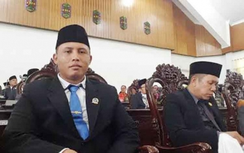 Kunanto Ketua Komisi III legislator Partai Nasdem Anggota DPRD Kabupaten Kapuas saat di ruang sidang Paripurna Kantor DPRD Jalan Tambun Bungai.