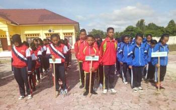 Peserta O2SN dan FLSSN tingkat Kabupaten Sukamara saat mengikuti kegiatan pembukaan di Balai Pelatihan Guru (BPG) Sukamara.