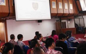 Sejumlah SOPD lingkup Pemprov Kalteng menggelar rapat koordinasi di aula Jayang Tingang Kantor Gubernur