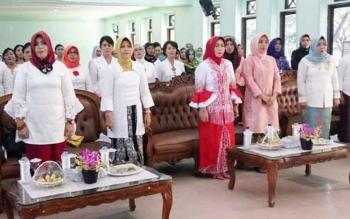 Suasana peringatan Hari Kartini di Pulang Pisau, Jumat (21/4/2017)