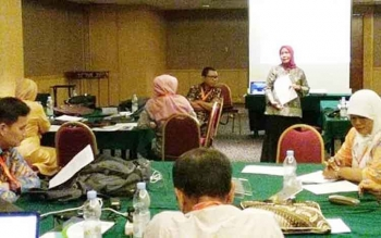 Pelaksanaan Bimtek Penyegaran Instruktur Kurikulum 201 dari tanggal 17 sampai 20 April 2017 di Hotel Ciputra, Jakarta.
