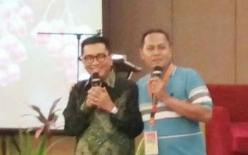 Helmi Yahya menjadi salah satu narasumber dalam kegiatan Bimtek Penyegaran Instruktur Kurikulum 2013 di Hotel Ciputra, Jakarta
