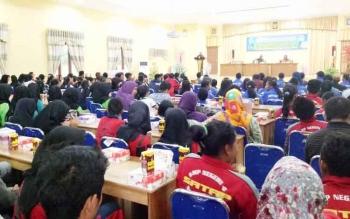Peserta saat mengikuti kegiatan penutupan OOSN dan FLSSN tingkat SMP di BPG Sukamara.