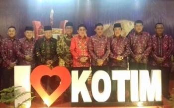 Bupati Kotim Supian Hadi beserta unsur FKPD lainnya.