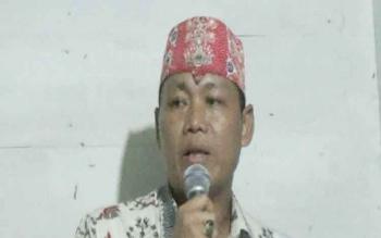 Yuas Elko, pengurus Majelis Daerah Hindu Kaharingan Kabupaten Katingan.