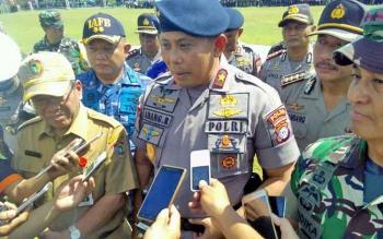 Kapolda Kalteng Brigadir Jenderal Anang Revandoko memberikan keterangan kepada wartawan, Selasa (25/4/2017)