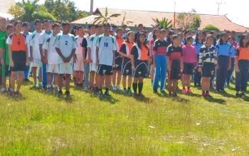 Para atlet yang mengikuti Popkab tingkat Kabupaten Gunung Mas 2017.