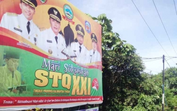 Baliho STQ yang ada disalah satu sudut Kota Puruk Cahu, Kabupaten Murung Raya.