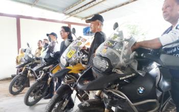 Peserta Borneo Island International Bike Festival dari Malaysia.