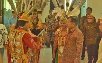 Wakil Presiden, Jusuf Kalla tiba di Bandara Tjilik Riwut Palangka Raya, Rabu (26/4/2017).