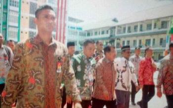 Wapres Jusuf Kalla sudah tiba di Kampus Muhammadiyah Palangka Raya sekitar pukul 10.00 WIB pagi ini