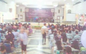 Suasana acara perpisahan diSMAN 1 Tamiang Layang