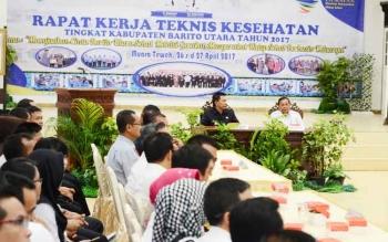 Pelaksanaan Rakernis Kesehatan di gedung Balai Antang Muara Teweh yang diselenggarakan oleh dinas kesehatan Barito Utara.