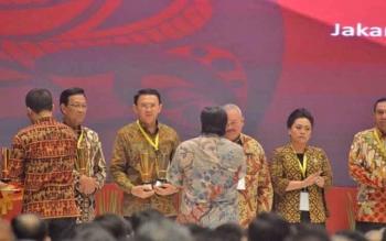 Bappenas memberikan penghargaan Anugerah Pangripta Nusantara 2017, di Jakarta, Rabu (26/4/2017). Peraih nilai tertinggi DI Yogyakarta, DKI Jakarta,dan r Sumsel. Kalimantan Tengah masuk nominasi.