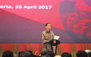 Presiden Joko Widodo saat Musrenbangnas 2017