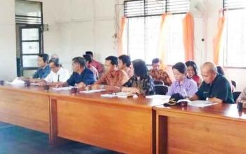Pembinaan Desa Keluarga Sadar Hukum yang diselenggarakan Tim Kadarkum Kabupaten Pulang Pisau di Kecamatan Kahayan Tengah, Kamis (27/4/2017).