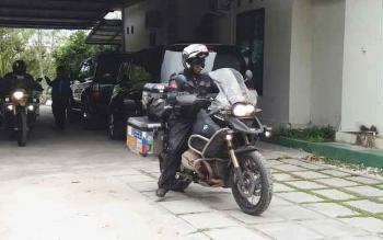 Sejumlah peserta Borneo Island International Bike Festival dan Kalimantan Bike Week 2017 yang lebih dulu datang ke Sampit untuk mengikuti kegiatan terasebut.