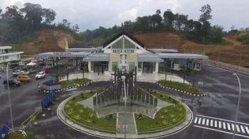 PLBN Entikong, Kabupaten Sanggau, Provinsi Kalimantan Barat.