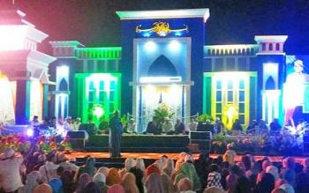 Peringatan Isra Miraj yang dilaksanakan Pemerinah kabupaten Barito Utara di WFC di Jalan Panglima Batur Muara Teweh