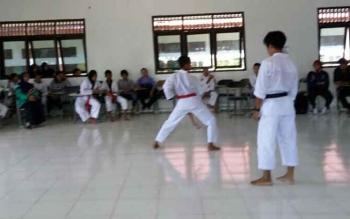 Siswa SMP saat mengikuti Olimpiade Olahraga Siswa Nasional (O2SN) tingkat Kabupaten Lamandau