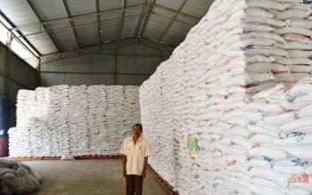 Stok beras stok beras digudang Bulok Buntok barito Selatan