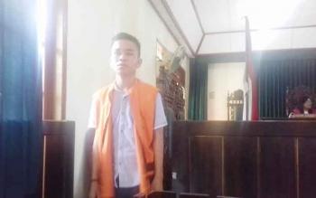 Hendri tersangka kasus pencurian dinamo salah satu preman di Desa Tumbang Turung, komplotan Ebeng Cs.