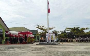 Upacara peringatan Hadiknas di Kabupaten Pulang Pisau, Selasa (2/5/2017).