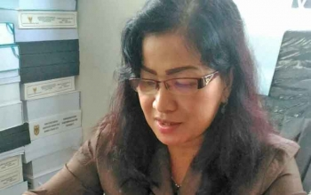 Anggota DPRD Kabupaten Gunung Mas Lily Rusnikasi.