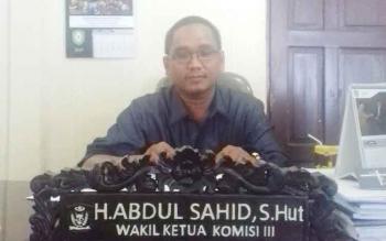 Anggota Komisi III DPRD Kotim, H Abdul Sahid